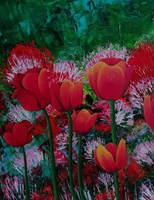 Tulips by Kawellopy