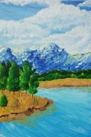 Mountain lake by Kawellopy