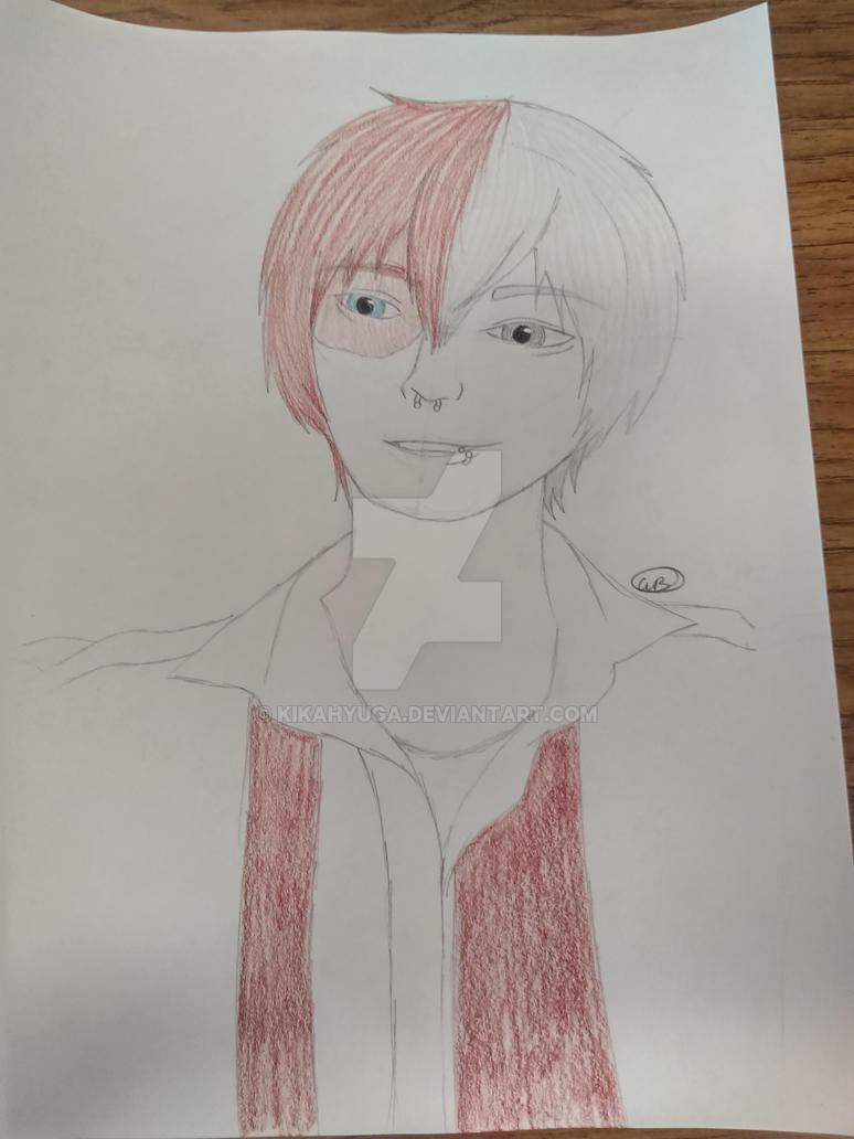 Lowcash Cosplay Todoroki Sketch By Kikahyuga On Deviantart