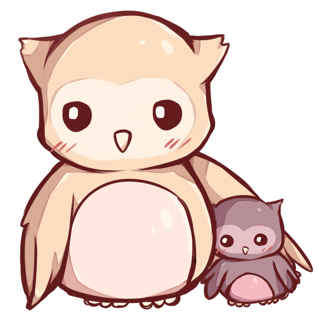 kawaii owls by dessineka on deviantart