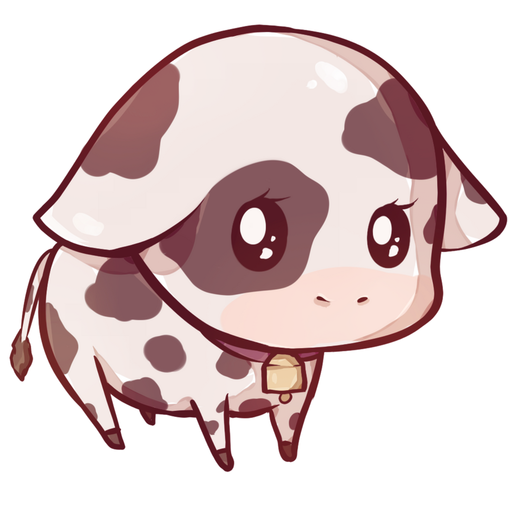 Kawaii cow by Dessineka on DeviantArt
