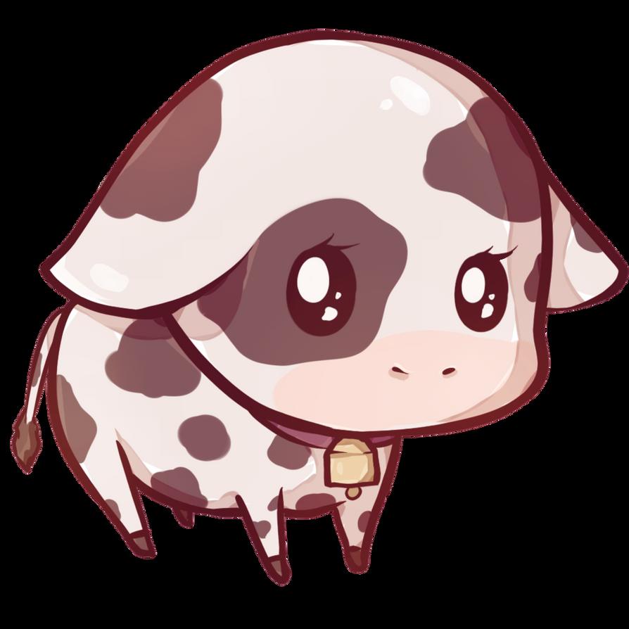 Kawaii cow by Dessineka on DeviantArt