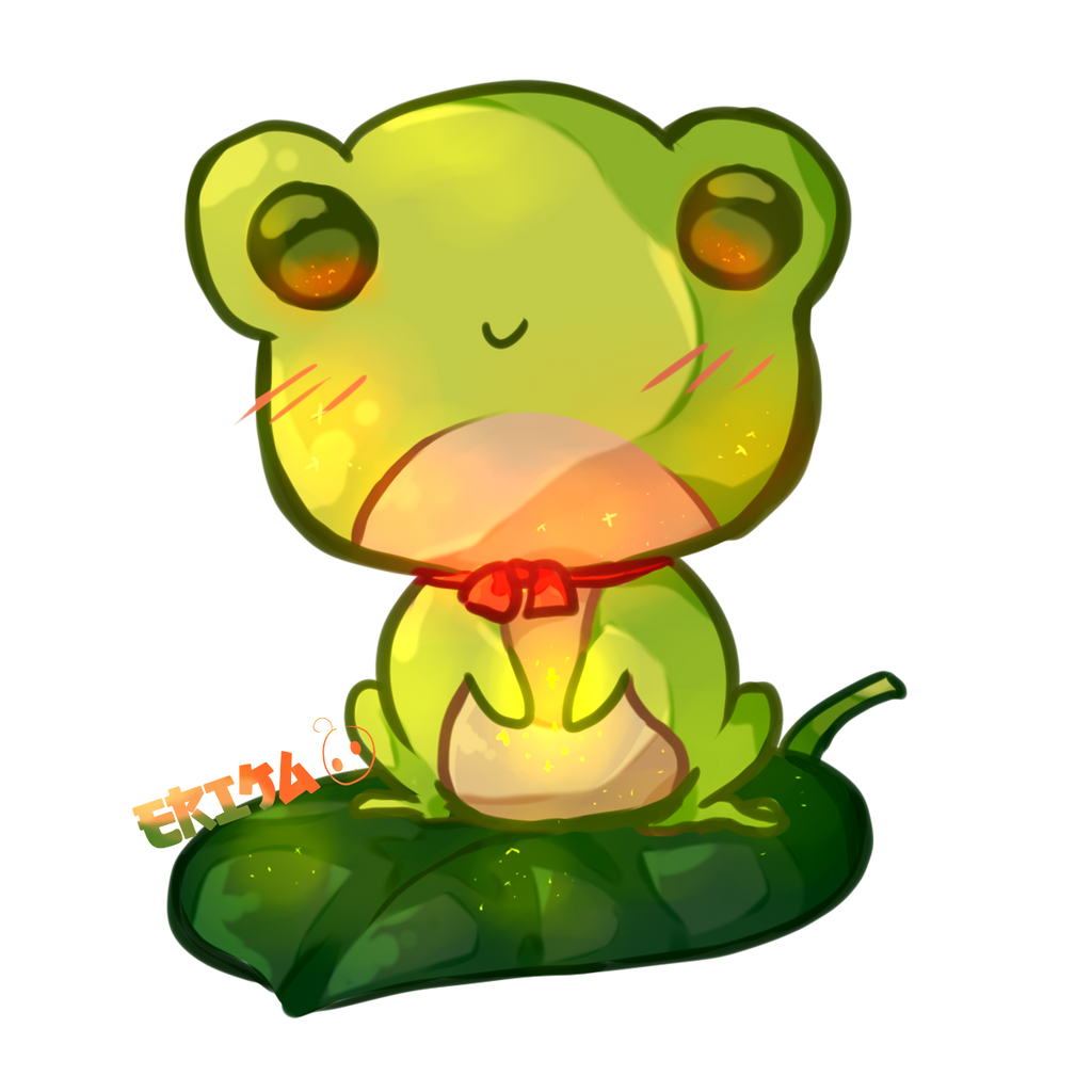 Kawaii Frog by Dessineka on DeviantArt