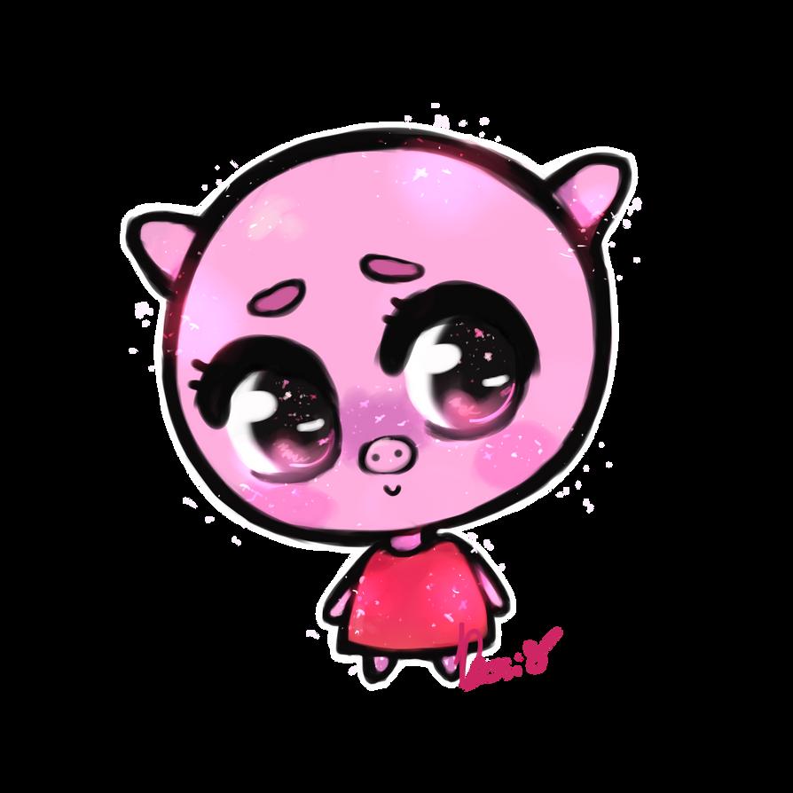Kawaii peppa pig by dessineka