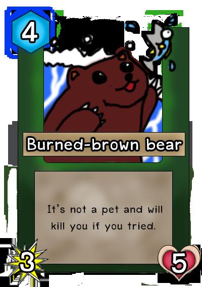 Burned-brown Bear card :P by Alpha072
