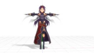 MMD sword art online yuuki model lost song
