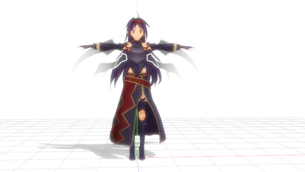 Mmd sword art online yuuki model lost song by pajamaje235 Online 3d modeling