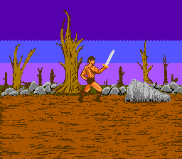 Unfinished NES Golden axe clone