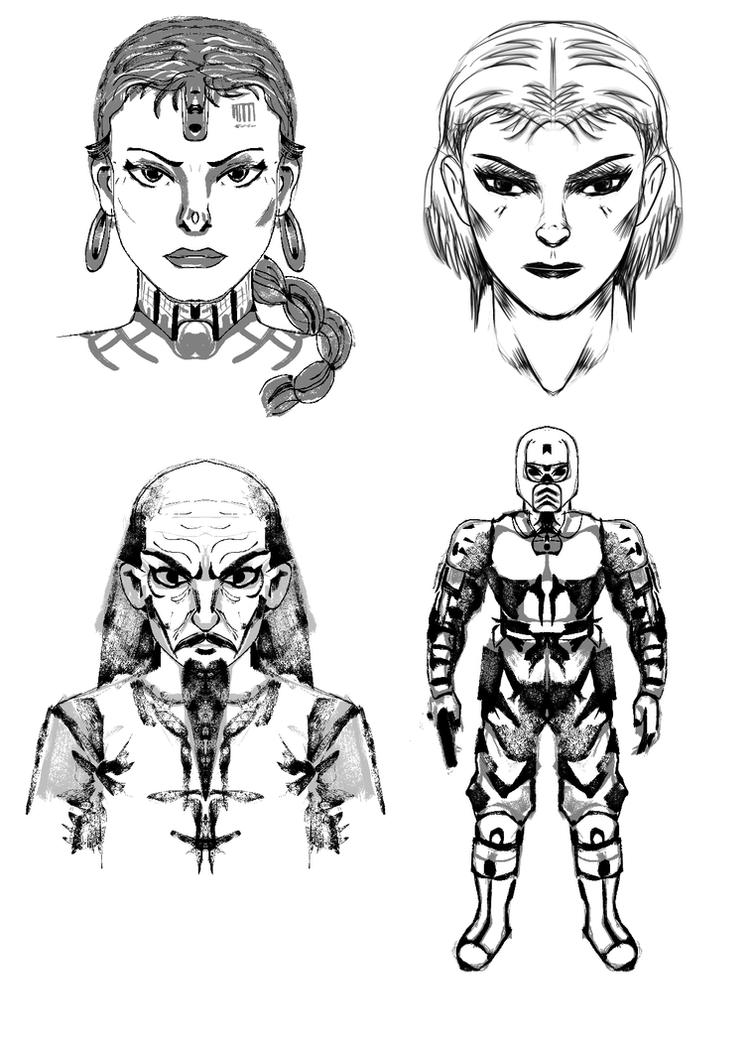 Character Design Krita : Krita mirror character design practice by ruberboy on