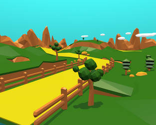 Lowpoly fantasy environment wip by ruberboy