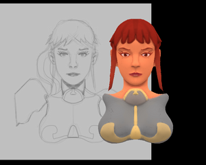 Chic Scifi Painttest (WIP)