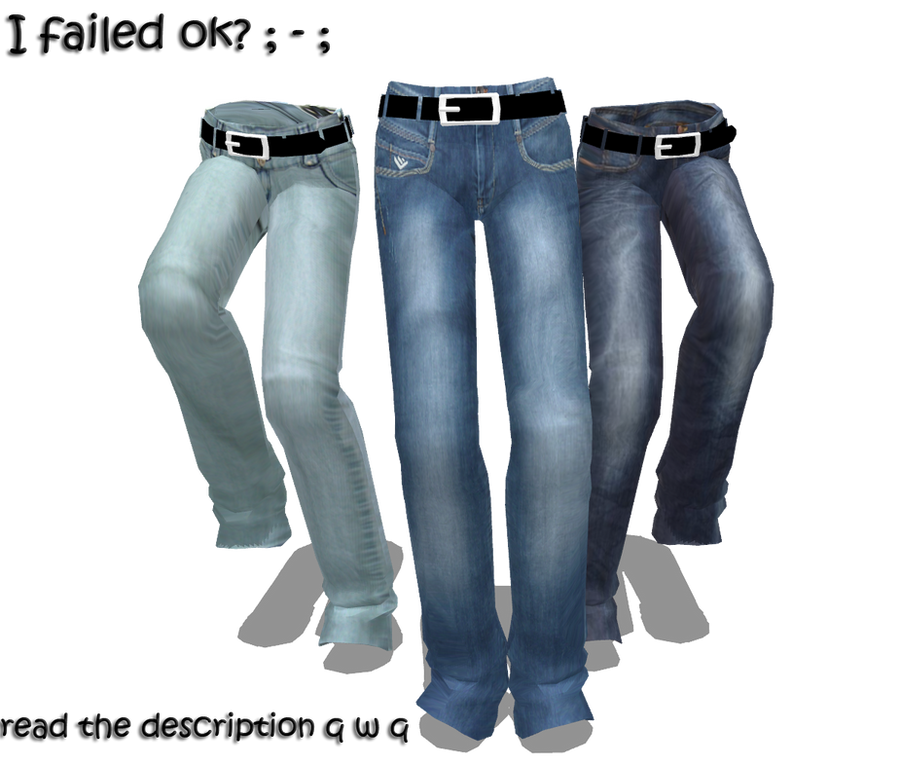 MMD Textured pants DL by TotodileDash