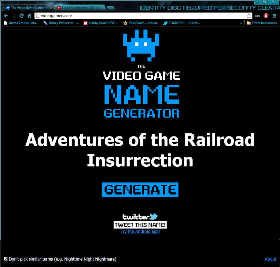 Videgame name generator by hachimitsu ink on deviantart