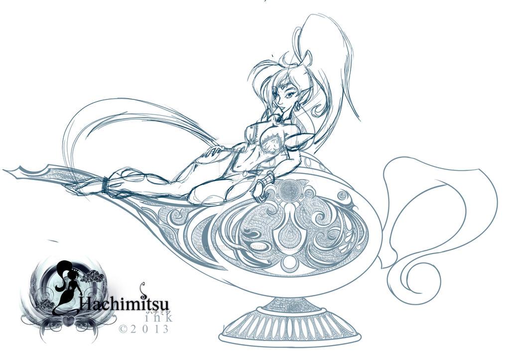 Shantae And The Magic Lamp By Hachimitsu Ink ...