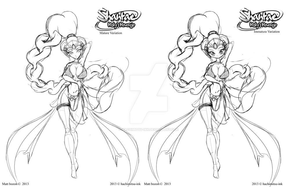 Dancer Shantae - Work in progress by hachimitsu-ink