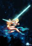 Duel Wield Lightsaber - Slave Queen Elsa