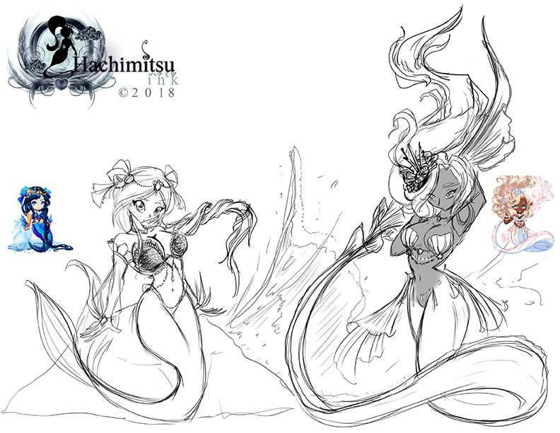 Gaia Freebie  Manara-Falsaer and The-Mermaiden by hachimitsu-ink