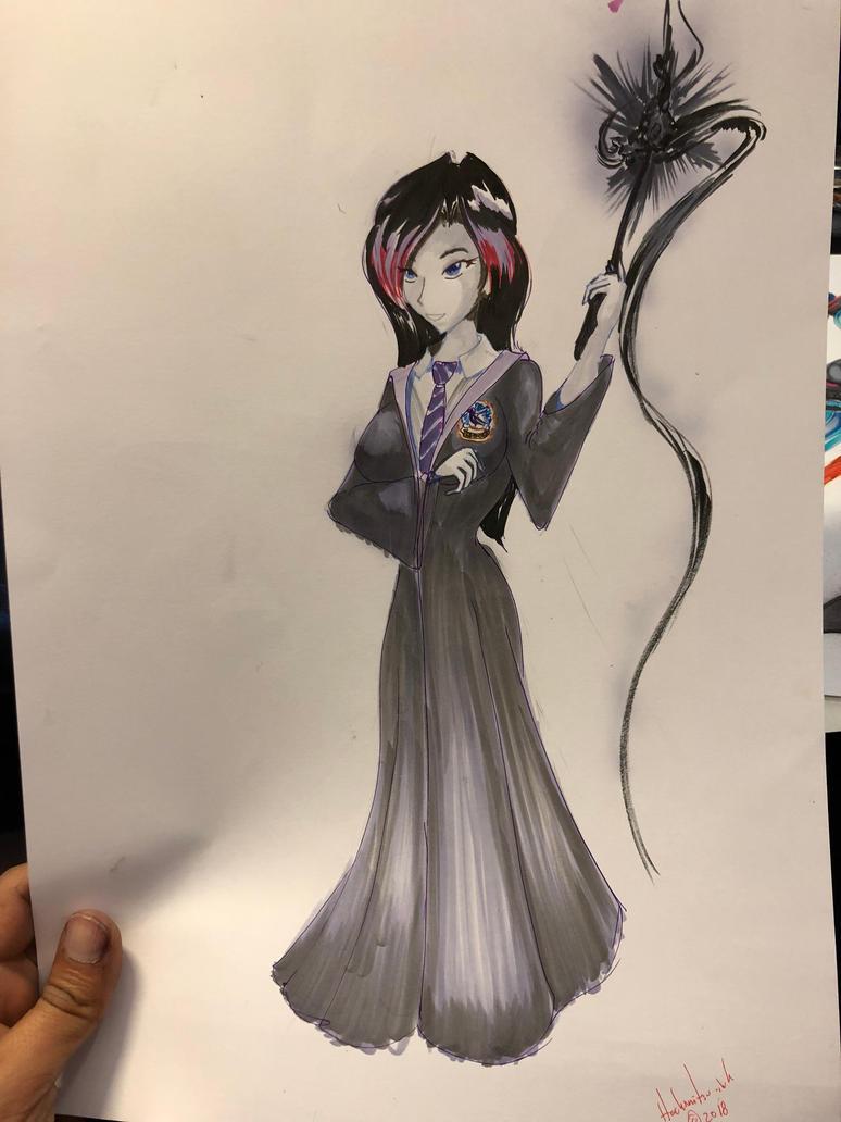 Fanime comission -Ebony Darkness Dementia Ravenway by hachimitsu-ink