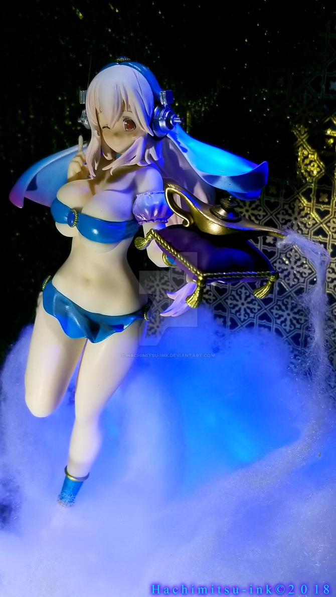 Super Special Series - Genie of the lamp Sonico by hachimitsu-ink