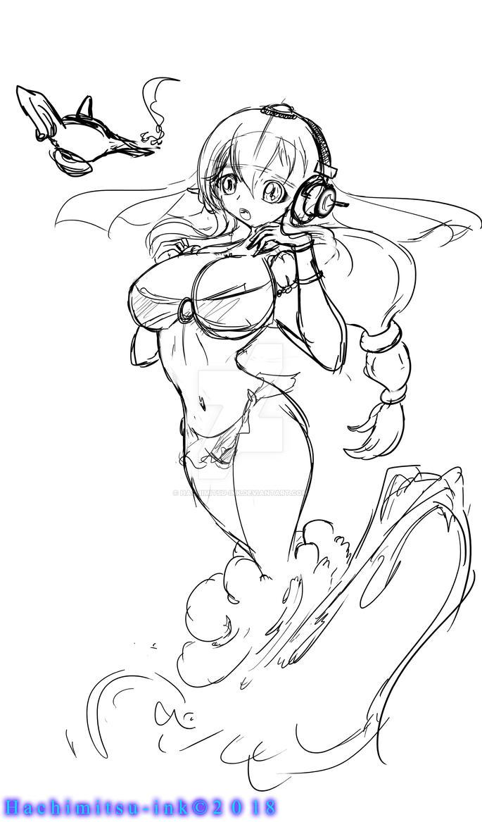 Genie super sonico - WIP by hachimitsu-ink