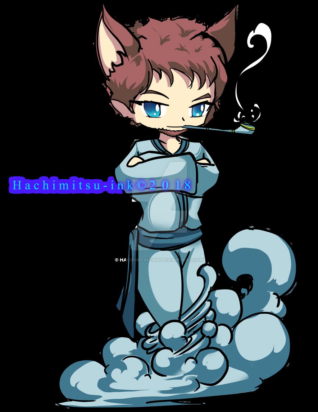 Mr kitsune by hachimitsu-ink