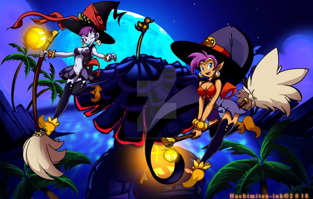 Shantae - Halloween Edition by hachimitsu-ink