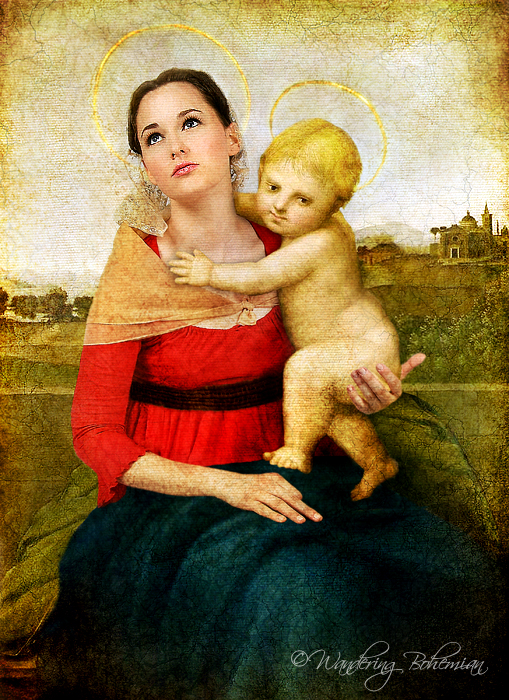 madonna and child with book raphael