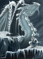 The Ice Dragon by Tionniel
