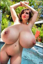 September Carrino Pool Nude by JimmyJacks99