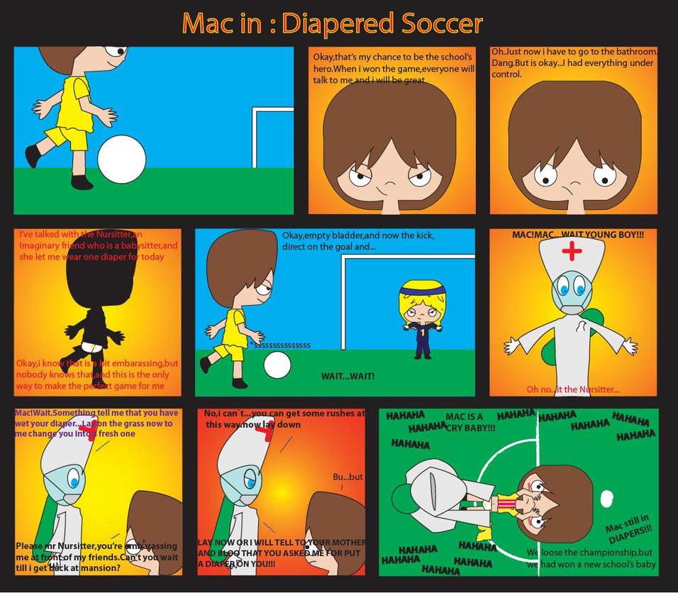 Diapered Soccer By Diaperedmac On DeviantArt