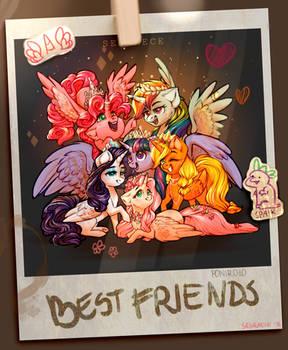 Six princesses of friendship (also Spaik)