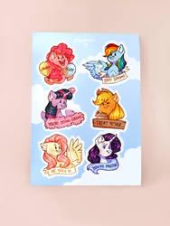 Mane 6 sticker sheet - A6 size