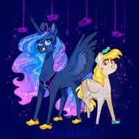 Derpy and Luna - the crocs team (+ SPEEDPAINT)