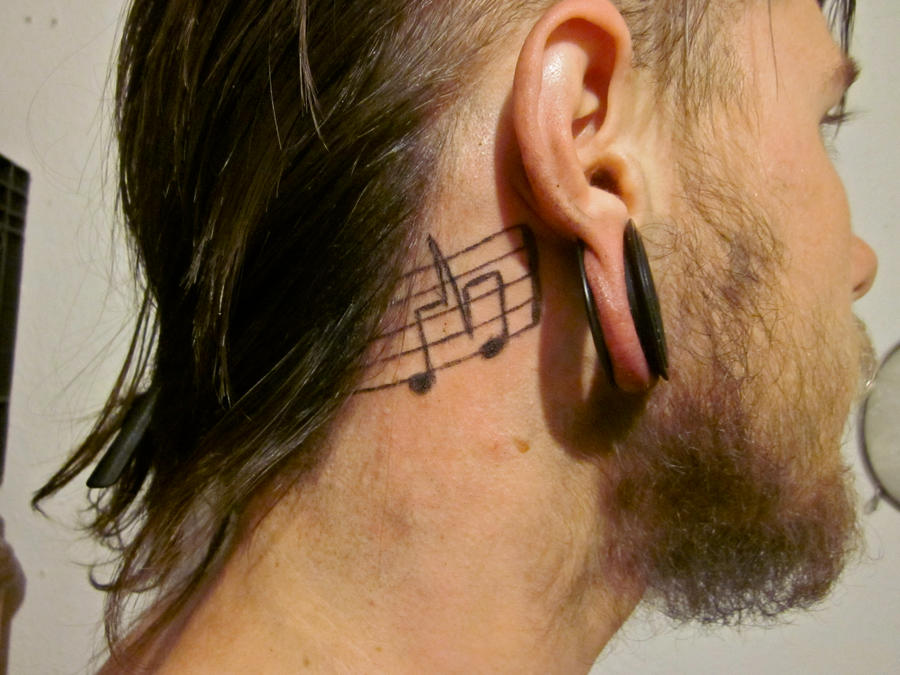 Musical Note Heartbeat Tattoo by neilcollinsartistHeartbeat Tattoo