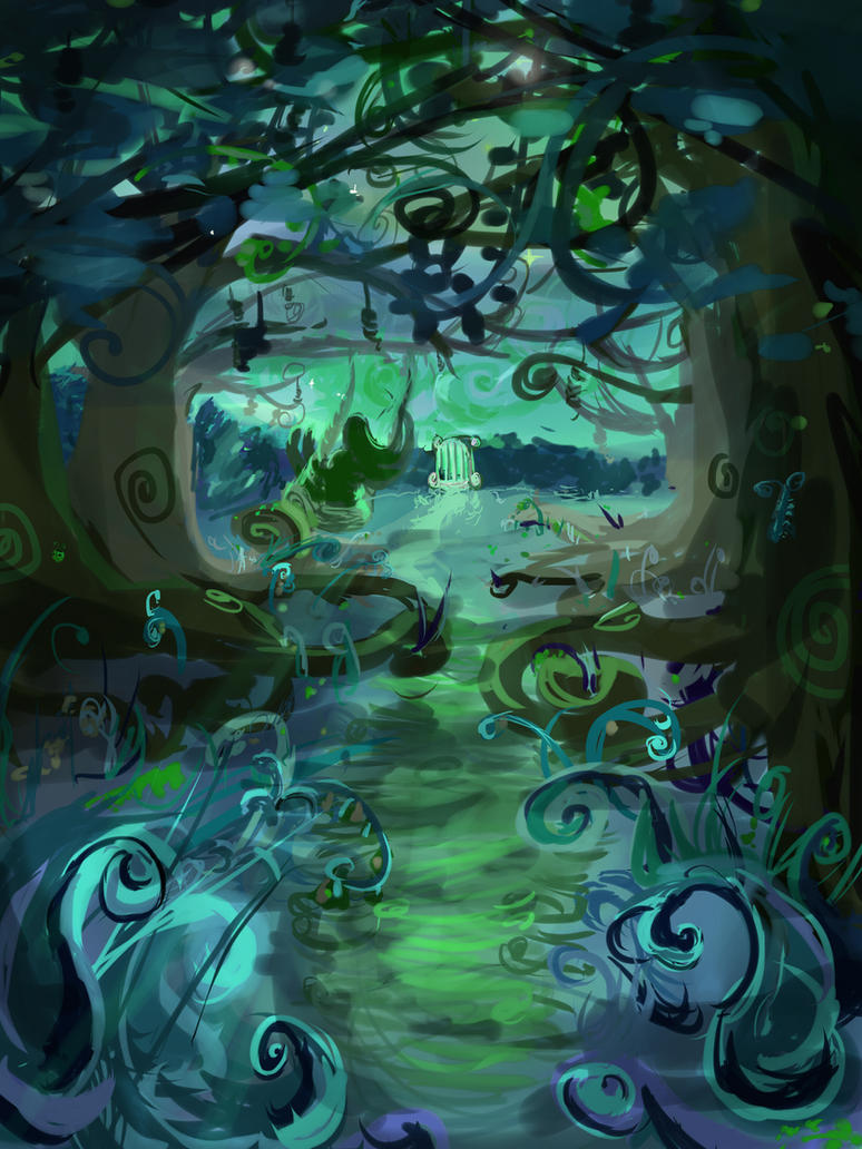 Contest - swirly Secret garden by balanuts