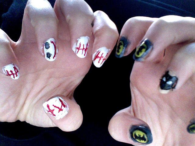 Joker vs Batman nails by luzifersdaughter on DeviantArt