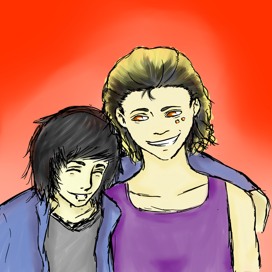 Shizuka and Nobushiro by darkcandyxx