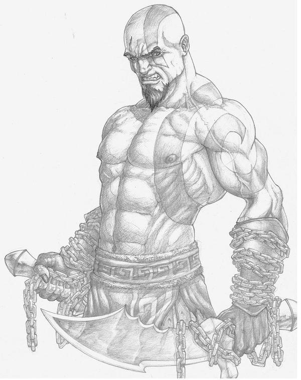 Line Art God Images : God of war drawings pixshark images galleries