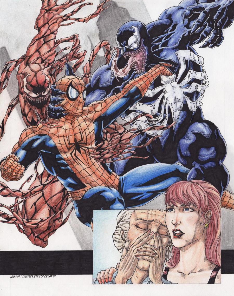 Spider man Vs Venom Carnage  C by JesterretseJ