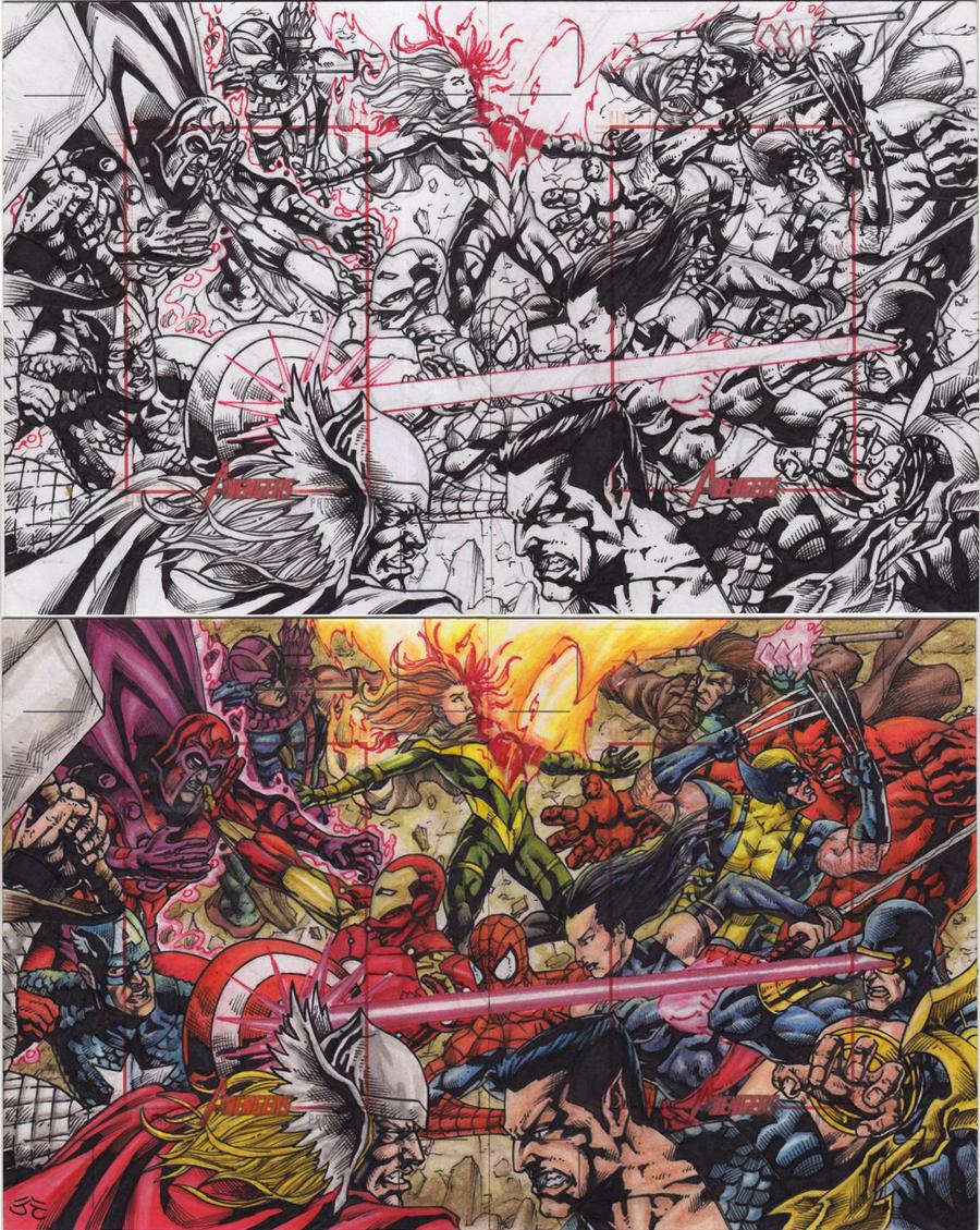 Avengers Vs Xmen by JesterretseJ