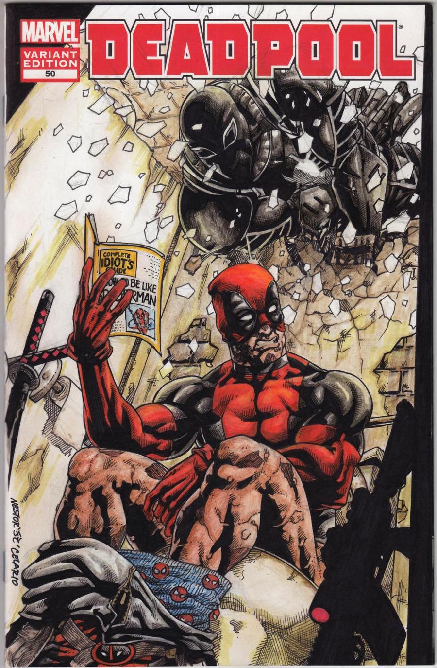Deadpool Vs Agent Venom in colors :) by JesterretseJ
