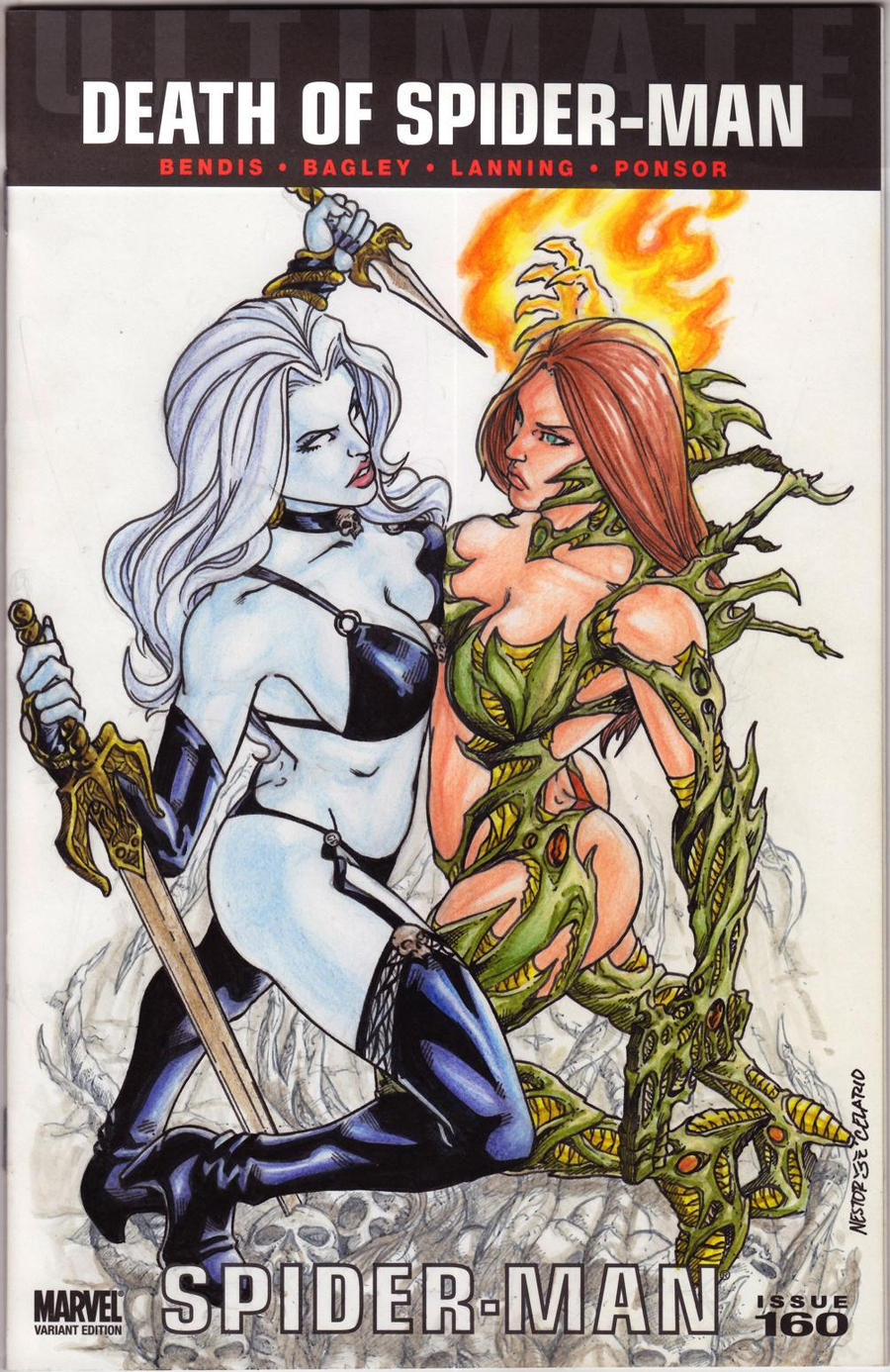 Lady Death vs Witchblade with colors by JesterretseJ