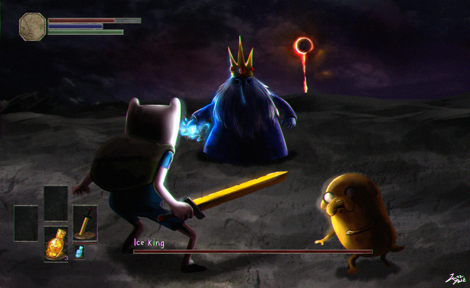 , The final L&B wallpaper for 2015 is a lovely... |Dank Souls Adventure Time