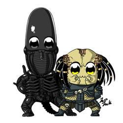 Pop Team Epic  Alien vs Predator