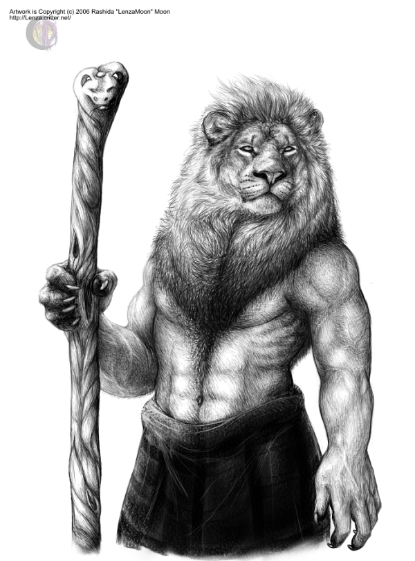 Pride - Anthro Leo by lenzamoon