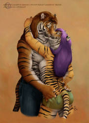 Stripy Kisses - Commission
