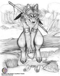 Random Wolf by lenzamoon