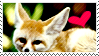 Fennec Fox Stamp by TangyMallow