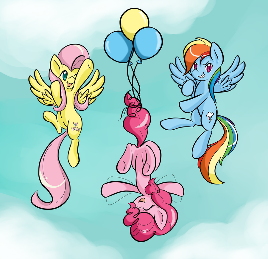Three Flying Ponies by do-it-yourself