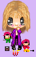 Chibi Yoshiki and his Plushes by Playfully-bad